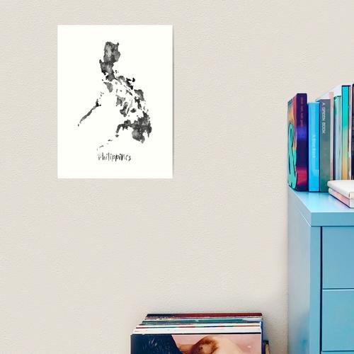 Philippinen Karte, Philippinen Kunstdruck