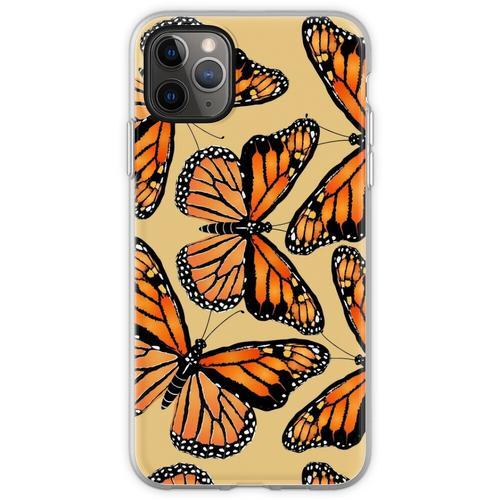 Herde von Monarchfalter Flexible Hülle für iPhone 11 Pro Max
