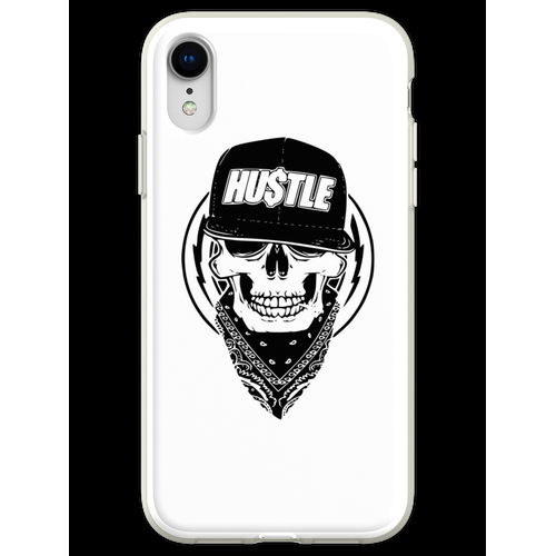 Hustle Skull Bandana Flexible Hülle für iPhone XR
