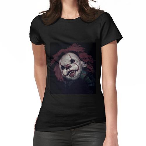 Gruseliger Clown, Clown, Killer Clown, Horror Clown, gruselige Puppe Frauen T-Shirt