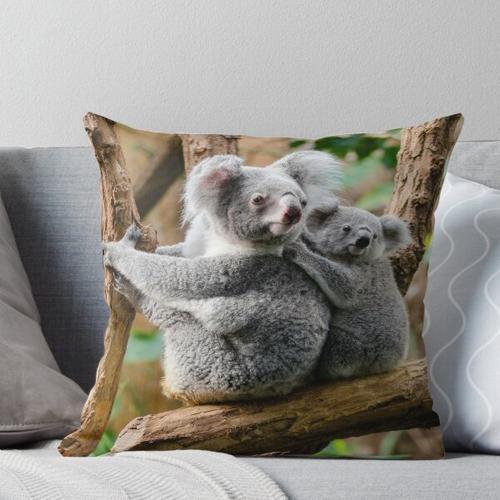 Mutter-Koala und Baby-Koala Kissen