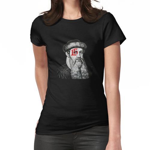 Gutenberg Red Patch Frauen T-Shirt