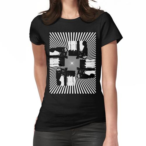 Schwindel In Schwarz Und Weiß Frauen T-Shirt