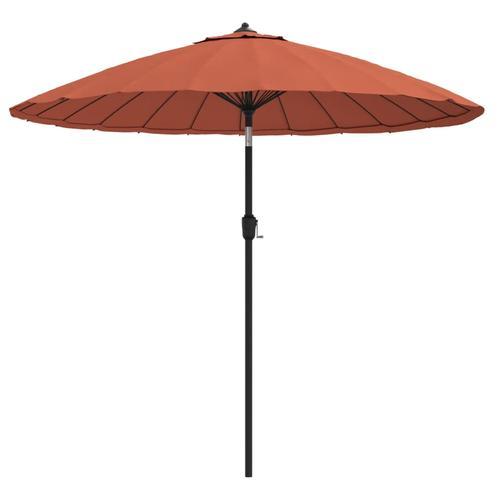 vidaXL Sonnenschirm mit Aluminium-Mast 270 cm Terracotta-Rot