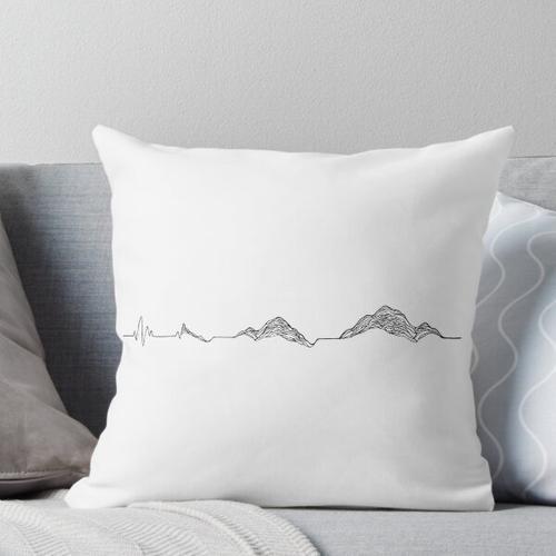 Herzschlag Berg Kissen