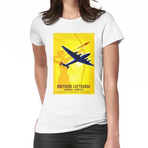 DEUTSCHE LUFTHANSA; Deutsch Airway Werbung drucken Frauen T-Shirt