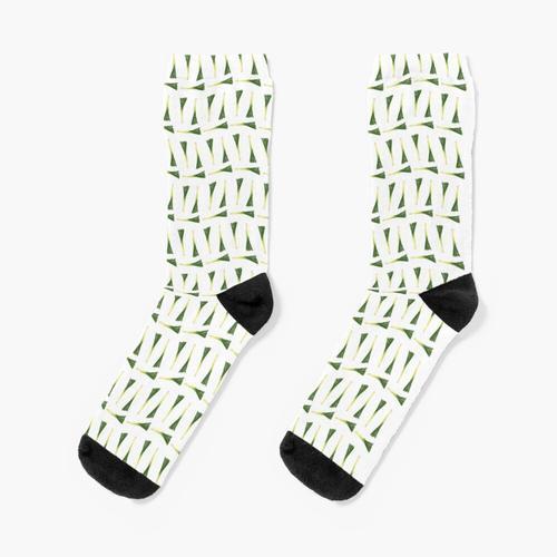 Lauch-Muster Socken