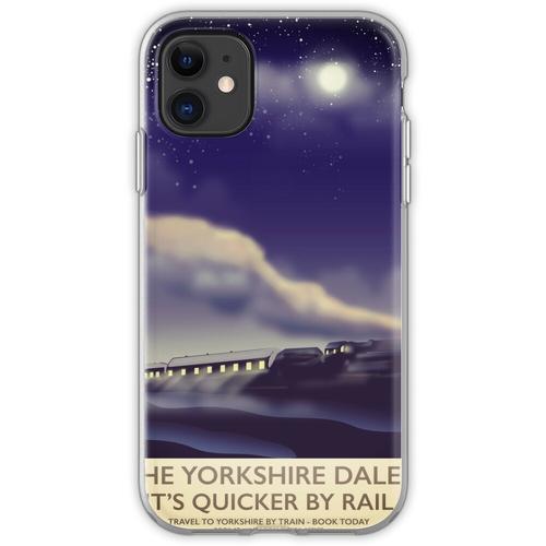 Das Yorkshire Dales Eisenbahnplakat Flexible Hülle für iPhone 11