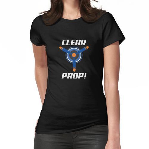 Propeller mit Propellerbild löschen Frauen T-Shirt