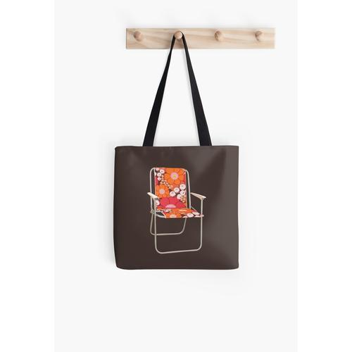 Klappbarer Liegestuhl mit Retro-Metallrahmen Tasche