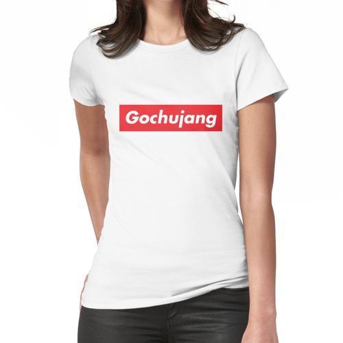 Setzen Sie etwas Gochujang auf es lustiges koreanisches Nahrungsmittelsagen Frauen T-Shirt