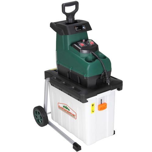 elektrischer Leisehäcksler 2800 W max. 45 mm Astdicke 60L Auffangbox Gartenhäcksler Walzenhäcksler