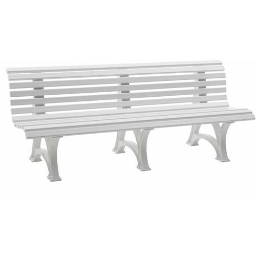 Sitzbank | Kunststoff | Breite 2000 mm | Weiß Bank Bank aus Holz\\ - Blome