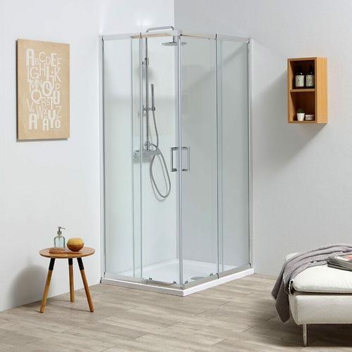 Massgefertigte Verstellbare Duschkabine Von 68-80 Cm Aus 4 Mm Glas Leo