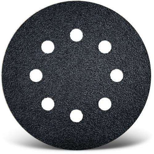 50 MENZER Klett-Schleifscheiben f. Exzenterschleifer, Ø 125 mm / 8-Loch / K150 / Siliciumcarbid