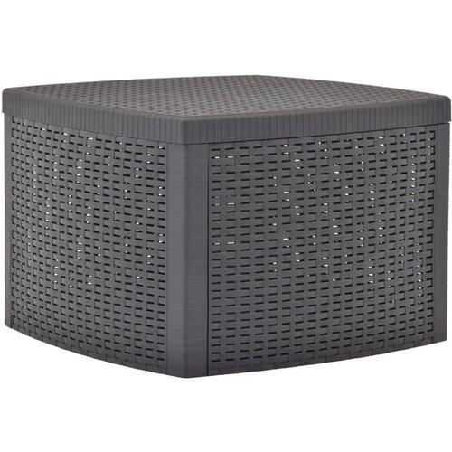 Vidaxl - Beistelltisch 54x54x36,5cm Kunststoff Mokka