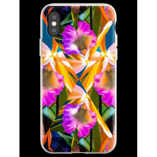 Orchideen Orchideen Orchideen Orchideen Flexible Hülle für iPhone XS