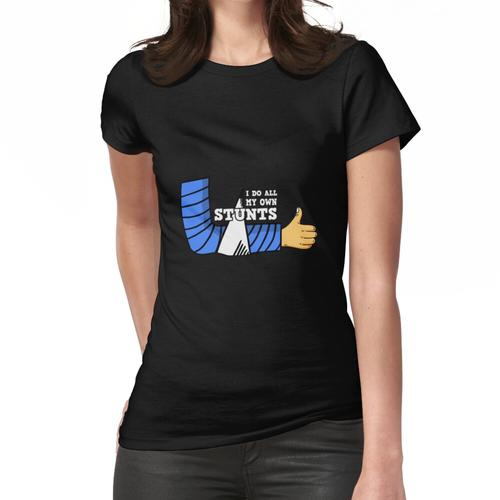 Gipsarm Knochenbruch Stuntman Gips Frauen T-Shirt