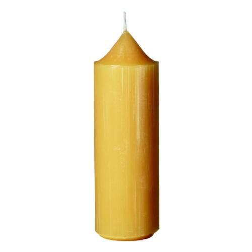 Kopschitz Kerzen 100% Bienenwachs Stumpenkerzen Honig (Bienenwachs), 120 x 38 mm, 12 Stück