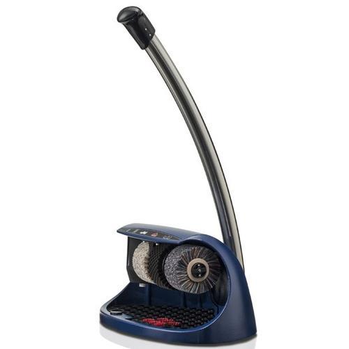 Cosmo Plus blau (RAL 5013) Schuhputzmaschine, inkl. 1 ltr Schuhpolitur (farblos)