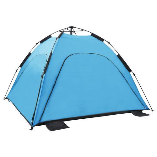 vidaXL Pop-Up-Strandzelt 220×220×160 cm Blau