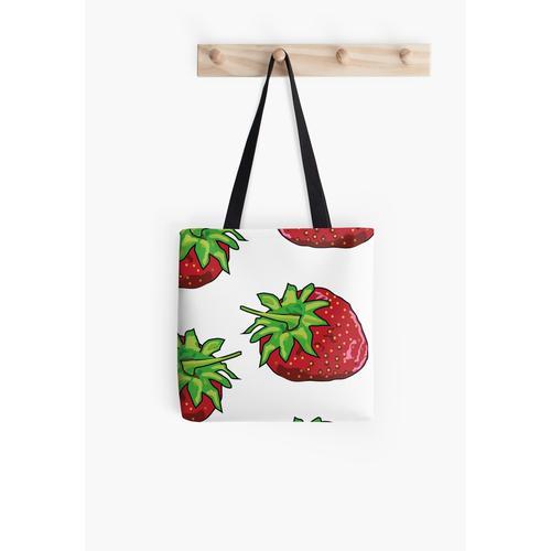 Knallrote Erdbeeren Tasche