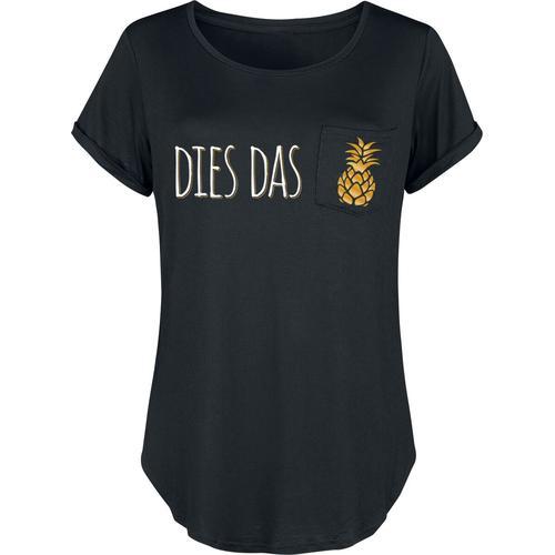 Dies Das Ananas Damen-T-Shirt - schwarz