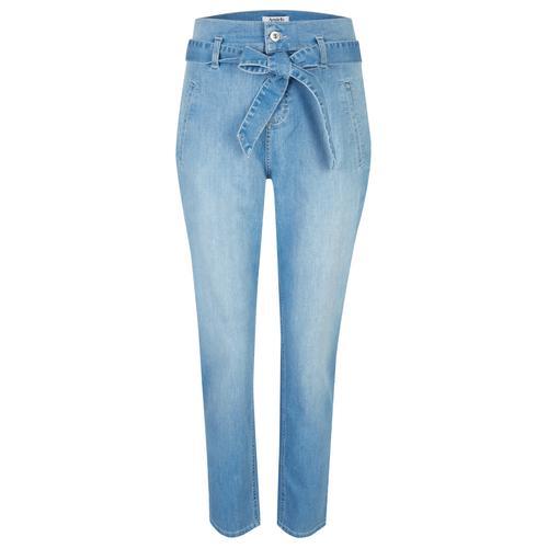 ANGELS Hose,Gwen' mit Bindegürtel blau Damen Gerade Hosen lang