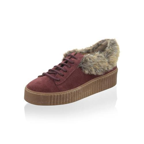 Alba Moda, Sneaker mit Kunstfell, rot