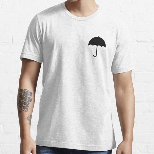 Schwarzer Regenschirm Essential T-Shirt