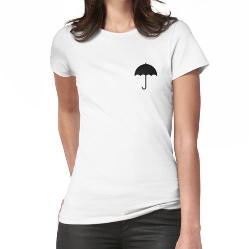 Schwarzer Regenschirm Frauen T-Shirt