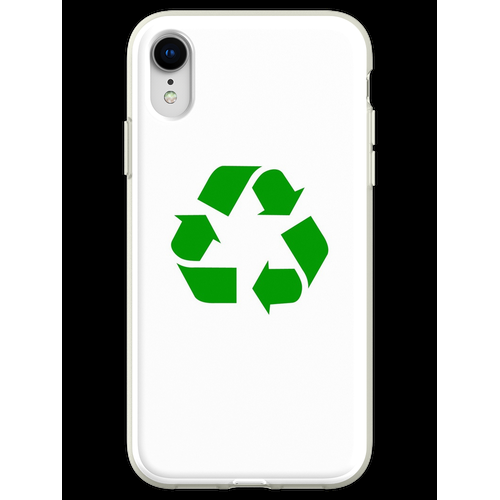 Recycling Recycling-Logo Flexible Hülle für iPhone XR