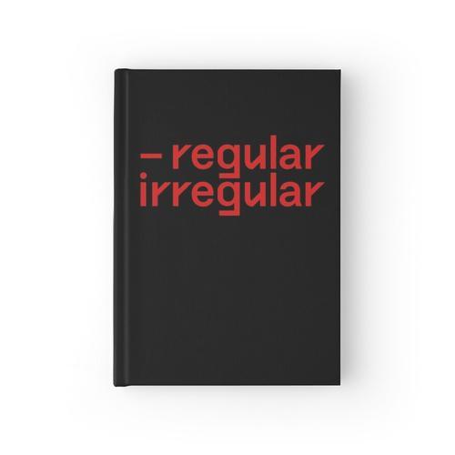 nct regular irregular font Notizbuch