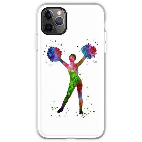 Cheerleader, Cheerleader, Aquarell-Cheerleader Flexible Hülle für iPhone 11 Pro Max