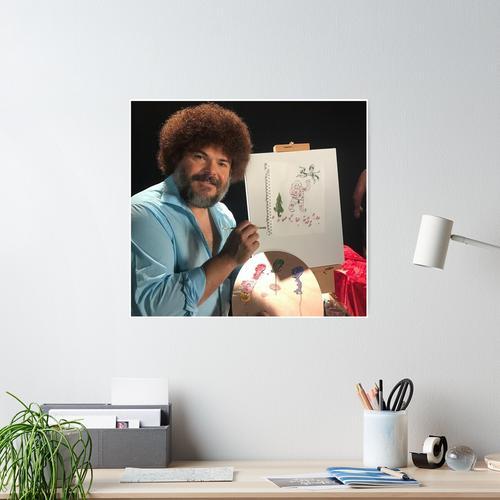 Jack Black Bob Ross Poster