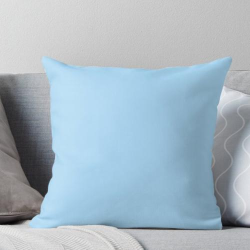 Cheapest Solid Pale Light Blue Color Throw Pillow