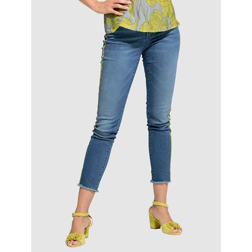 Jeans Alba Moda Blau::Limettengrün