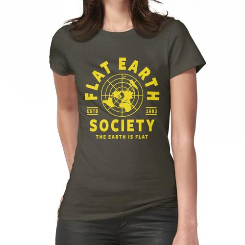 FLACHES ERDE-HEMD, FLACHES ERDE-GESELLSCHAFT-T-SHIRT, FLACHE ERDE Frauen T-Shirt