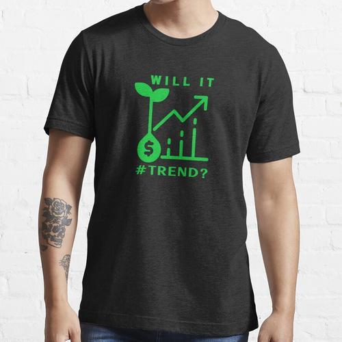 Wird es Trend? - Retro grün, Samengeldkarte. Essential T-Shirt
