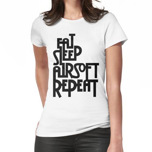 Eat.Sleep.Airsoft.Repeat - # 2 - Schwarz - Moral Sammler Airsoft - Airsoft Loadout De Frauen T-Shirt