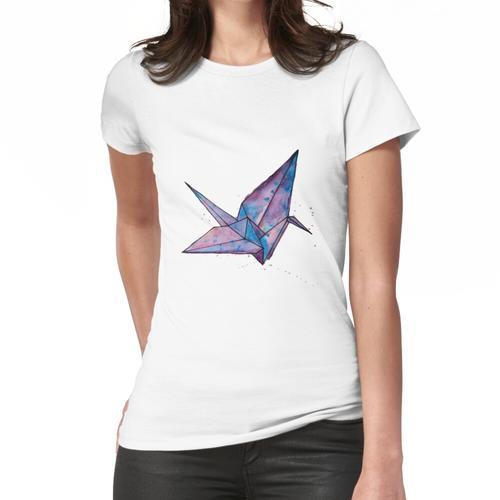 Origami Papier Kran Frauen T-Shirt