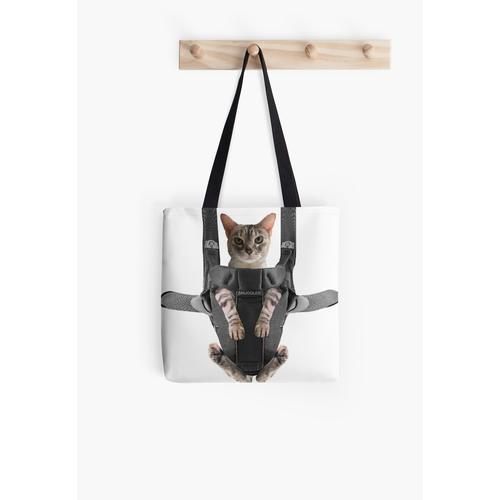 Katze in Babytrage Tasche