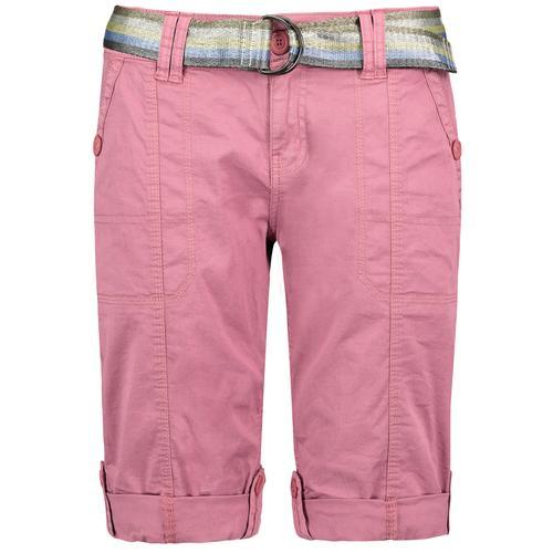 Fresh Made Bermudas, mit Gürtel rosa Damen Kurze Hosen Bermudas