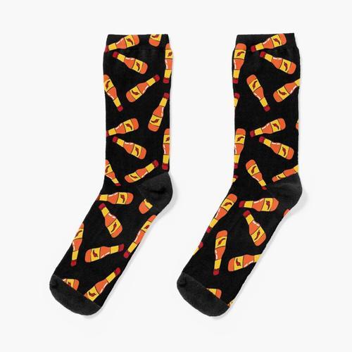 Hot Sauce - Chilisauce (schwarz) Socken