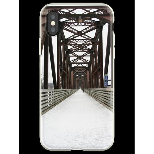 Alte Eisenbahnbrücke Flexible Hülle für iPhone XS