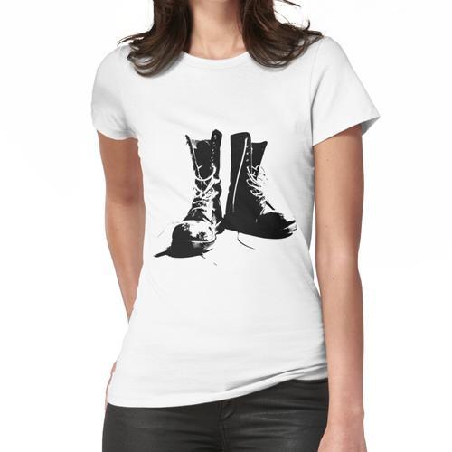 Grunge Punk Stiefel Frauen T-Shirt