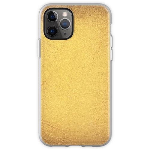 Goldmetallische Folie Flexible Hülle für iPhone 11 Pro