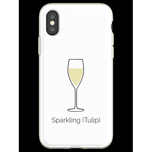 Sekt, Sektglas, Sekt Flexible Hülle für iPhone XS