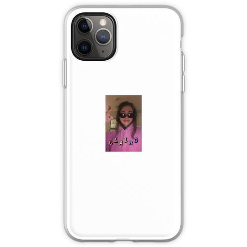 Clairo in einer Brille Flexible Hülle für iPhone 11 Pro Max
