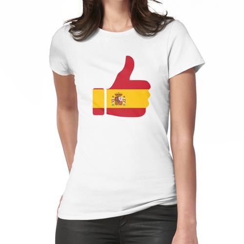 Fahnen-Daumen von Spanien Frauen T-Shirt